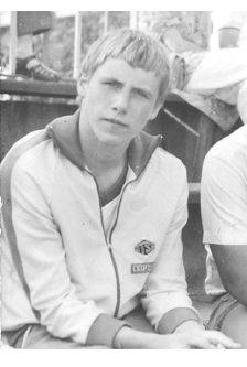 Peter Töpfer als junger Sportler - as young sportsman